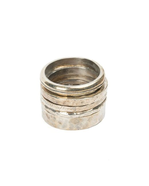 Tobias Wistisen | Metallic Textured Ring Set for Men | Lyst