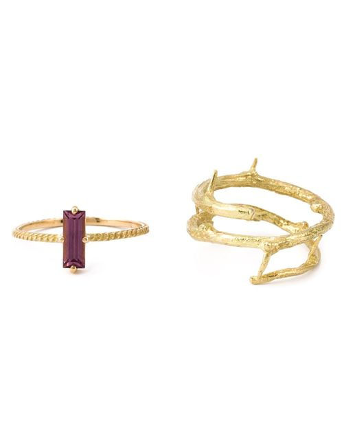 Wouters & Hendrix | Metallic Rhodolite Set Of Rings | Lyst
