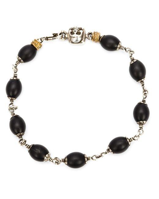Roman Paul | Black Skull Wrapped Bracelet for Men | Lyst