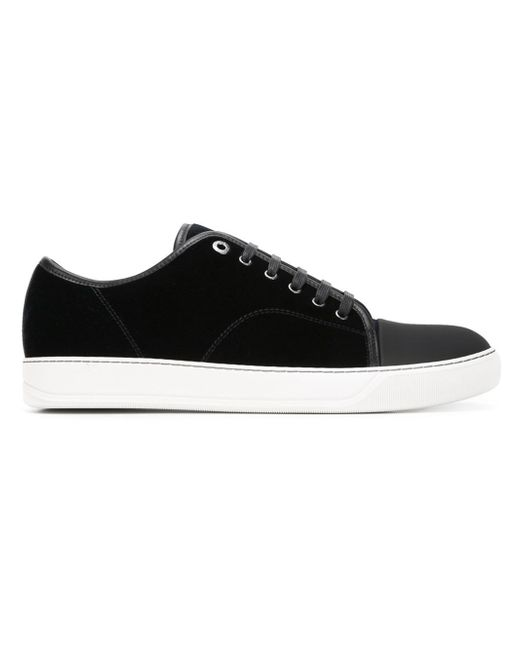 Lanvin | Black - Contrast Toe Cap Sneakers - Men - Leather/velvet/rubber - 7 for Men | Lyst
