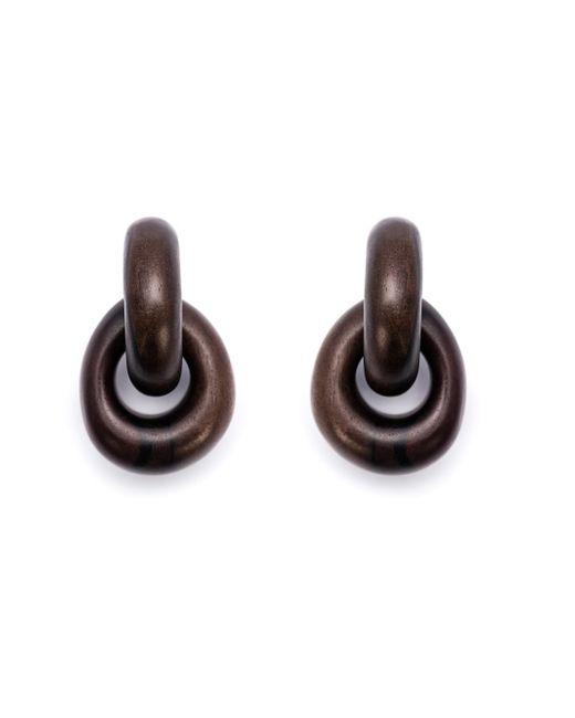Monies | Brown Door Knocker Clip-on Earrings | Lyst
