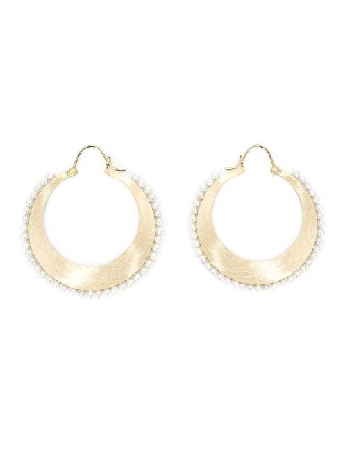 Irene Neuwirth | Metallic Pearl Studded Hoop Earrings | Lyst