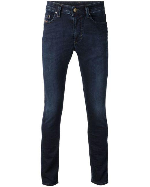 DIESEL | Blue Thanaz Skinny Dark Jeans for Men | Lyst