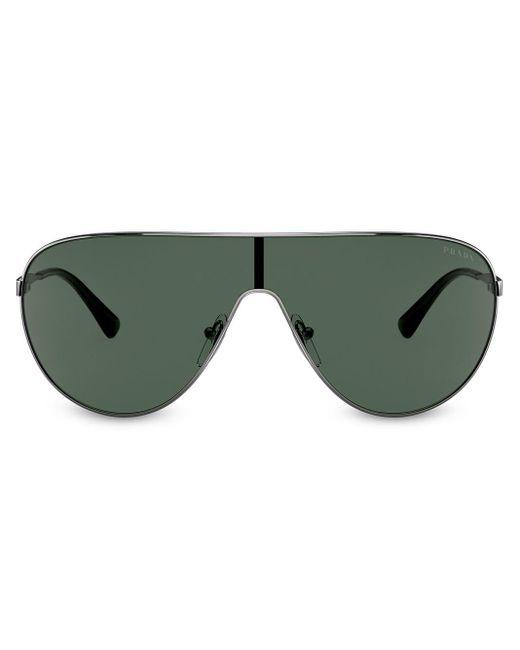 Prada Metallic Mask Effect Sunglasses for men
