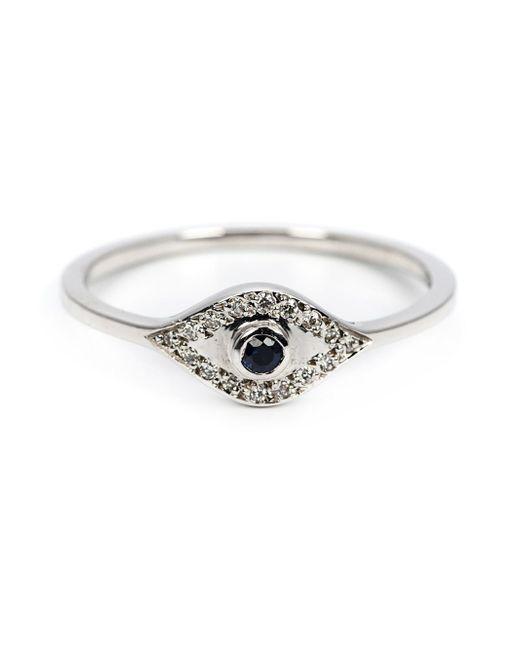 Ileana Makri | Metallic Sapphire And Diamond Eye Ring | Lyst