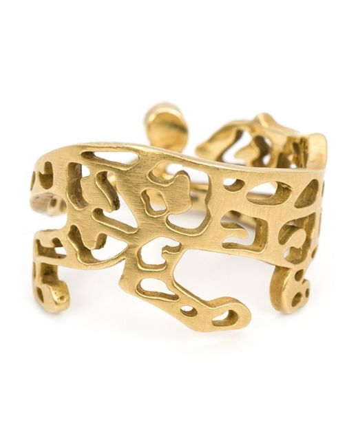 Marc Alary | Metallic 18kt Gold Cut-out Panther Ring | Lyst