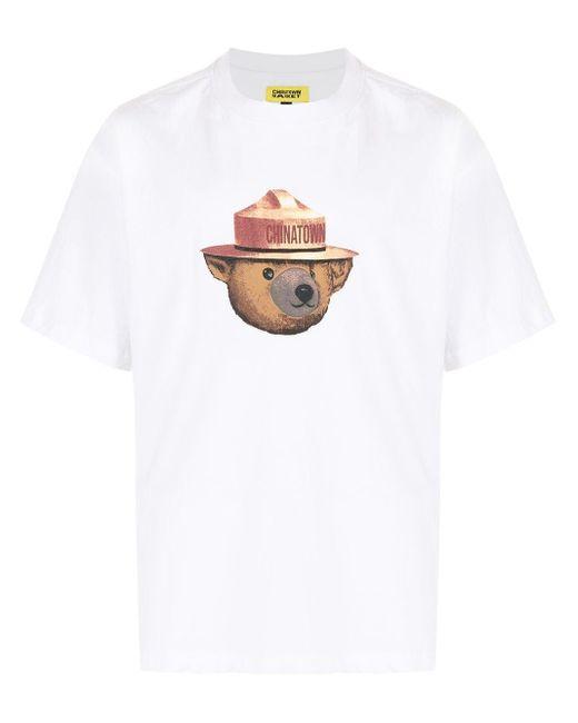 メンズ Chinatown Market General テディベア Tシャツ White