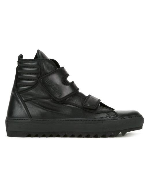 raf simons hi top sneakers in black for men save 58 lyst. Black Bedroom Furniture Sets. Home Design Ideas