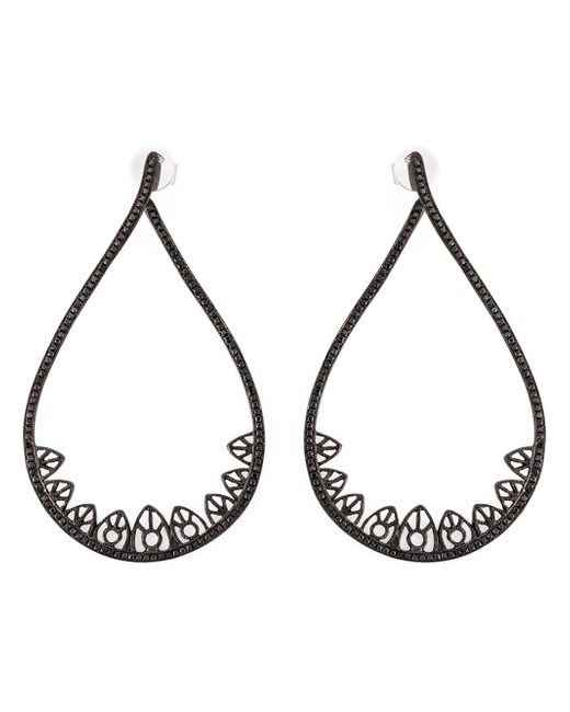 Joelle Jewellery | Black Joëlle Jewellery Gothic Teardrop Diamond Earrings | Lyst