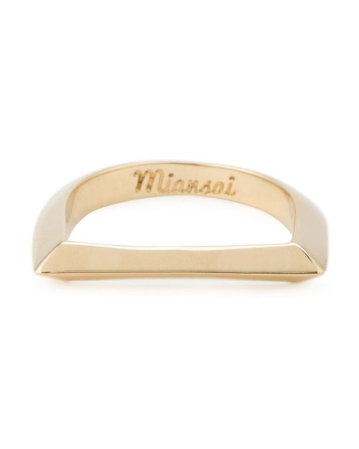 Miansai | Metallic 'bar' Ring | Lyst