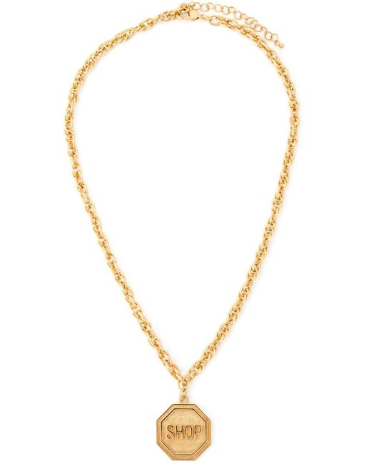 Moschino | Metallic Shop Medallion Necklace | Lyst