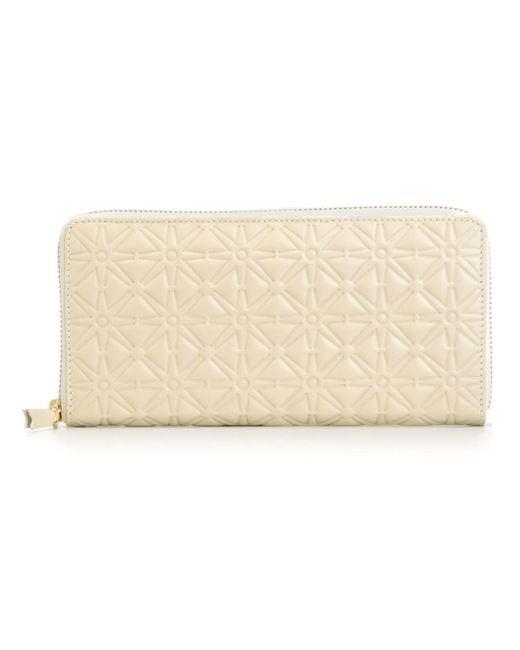 Comme des Garçons | White Comme Des Garçons Wallet 'classic Embossed A' Wallet | Lyst