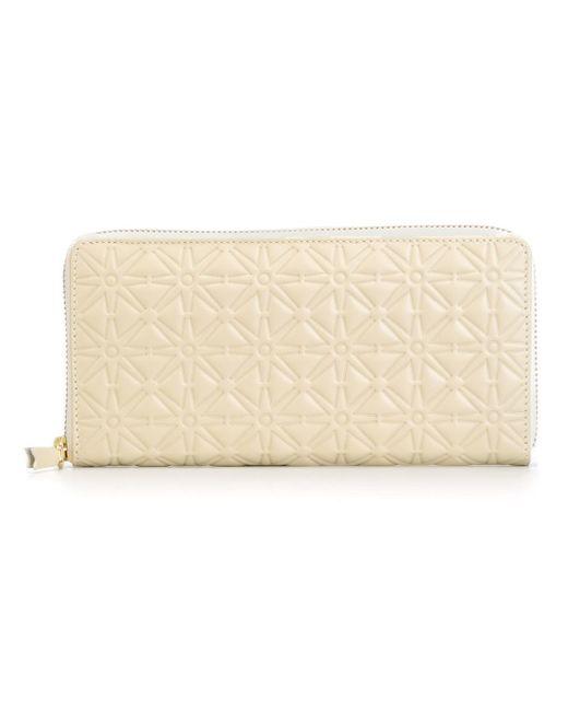 Comme des Garçons | White 'classic Embossed A' Wallet | Lyst