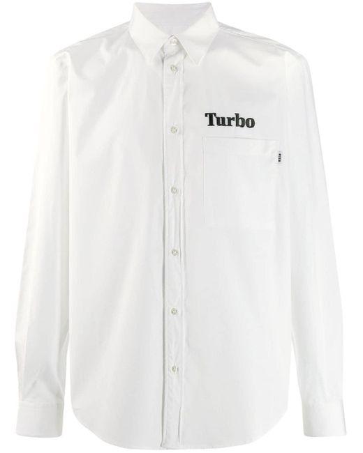 メンズ MSGM Turbo エンブロイダリー シャツ White