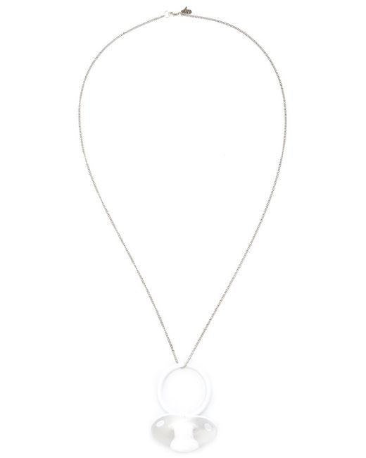 Bernhard Willhelm | Metallic Pacifier Pendant Necklace | Lyst