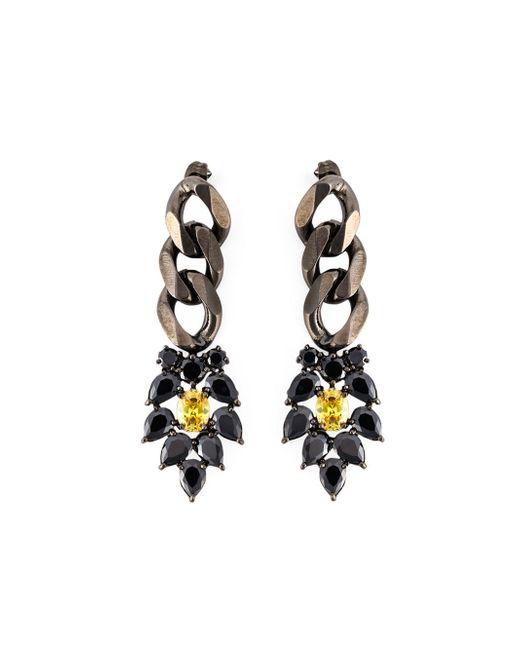 Iosselliani   'black On Black Memento' Earrings   Lyst