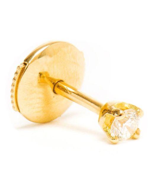 Yvonne Léon | Metallic Yvonne Léon 18k Gold And White Diamond Stud Earring | Lyst