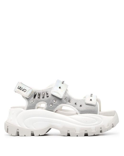 Liu Jo Metallic Chunky Strappy Sandals