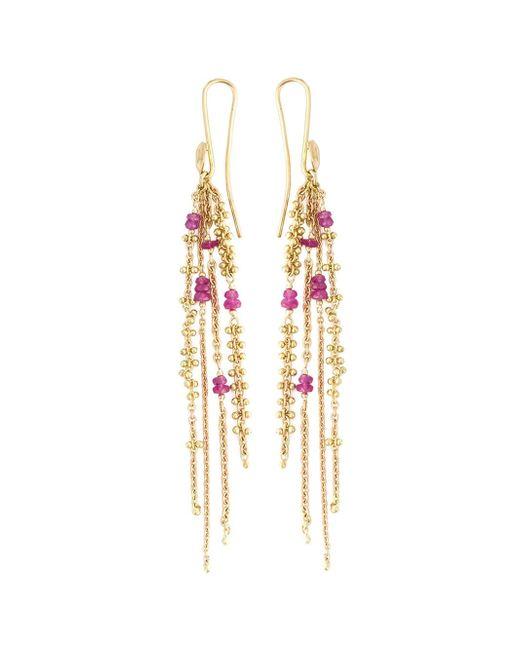 Natasha Collis | Metallic 'waterfall Pink Spinel Pin' Earrings | Lyst