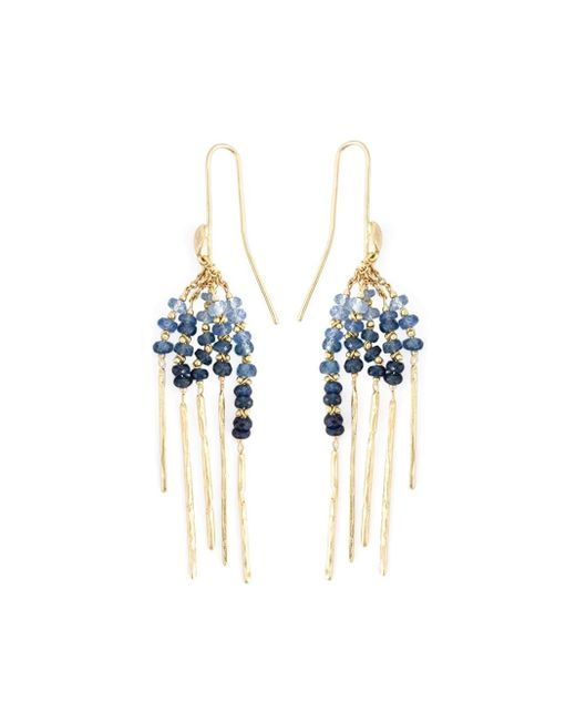 Natasha Collis | Blue 'rod' Sapphire Earrings | Lyst