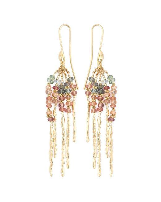 Natasha Collis   Metallic 'rod' Sapphire Earrings   Lyst