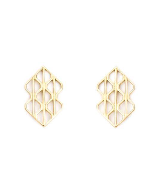 Luis Morais | Metallic 18kt Yellow Gold Large 'p3' Earrings | Lyst