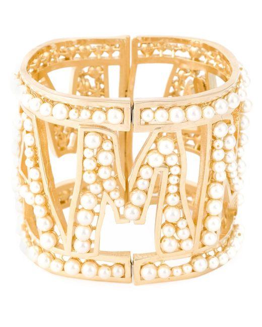 Dolce & Gabbana | Metallic Mamma Pearl Cuff | Lyst