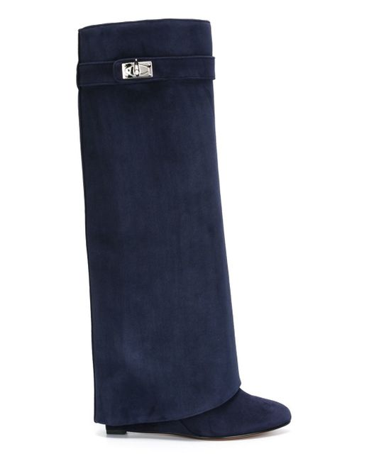 Givenchy | Blue 'shark Lock' Boots | Lyst