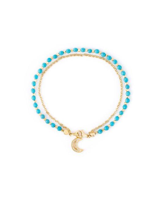 Astley Clarke | Metallic Biography White Sapphire & Turquoise Moon Beaded Friendship Bracelet | Lyst
