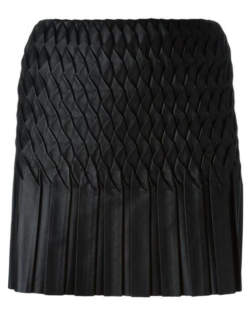 Jay Ahr | Black Wavy Pleated Mini Skirt | Lyst