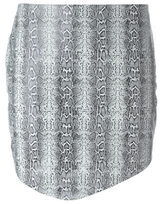 Jay Ahr | Black Python Print Asymmetric Hem Skirt | Lyst
