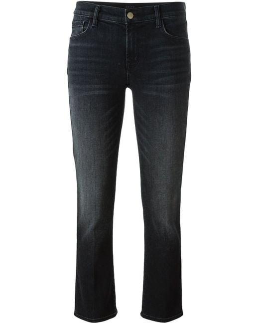 J Brand | Black - Cropped Jeans - Women - Cotton/polyester/spandex/elastane - 30 | Lyst