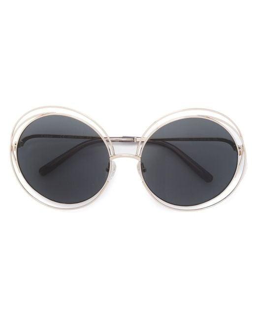 Chloé | Metallic 'carlina' Sunglasses | Lyst