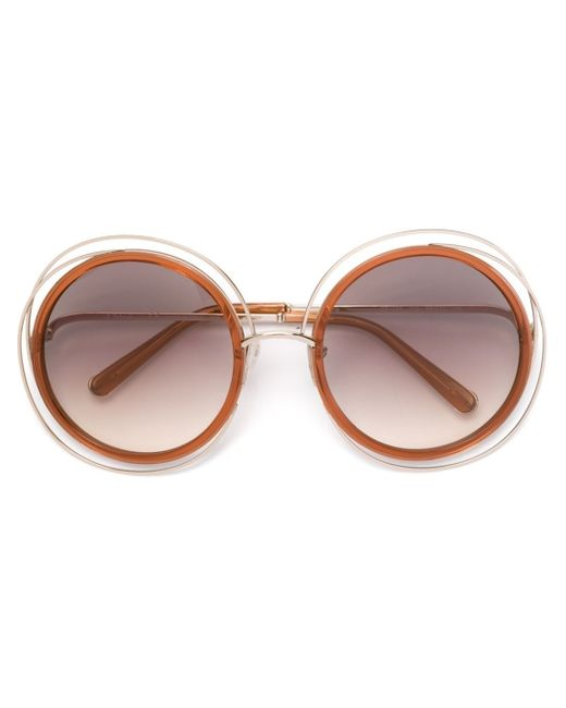 Chloé | Orange - 'carlina' Sunglasses - Women - Acetate/metal (other) - One Size | Lyst