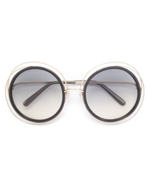 Chloé | Gray 'carlina' Sunglasses | Lyst