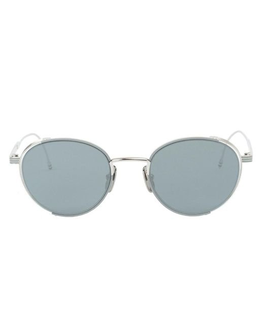 Thom Browne | Gray - Round Frame Sunglasses - Men - Silver/glass - One Size for Men | Lyst