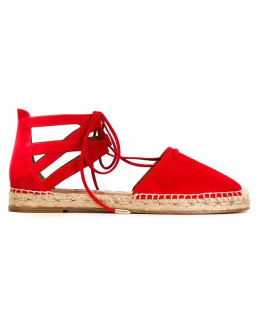 Aquazzura | Red - 'belgravia' Espadrilles - Women - Leather/suede - 37 | Lyst