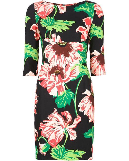 Stella McCartney   Green Carla Printed Crêpe Dress   Lyst