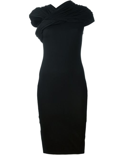 Givenchy | Black Twisted Detail Dress | Lyst