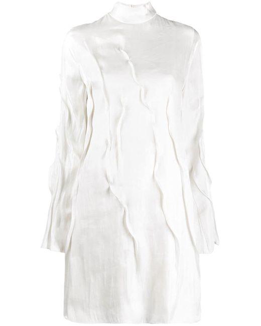 KENZO Wave フレアスリーブ ドレス White