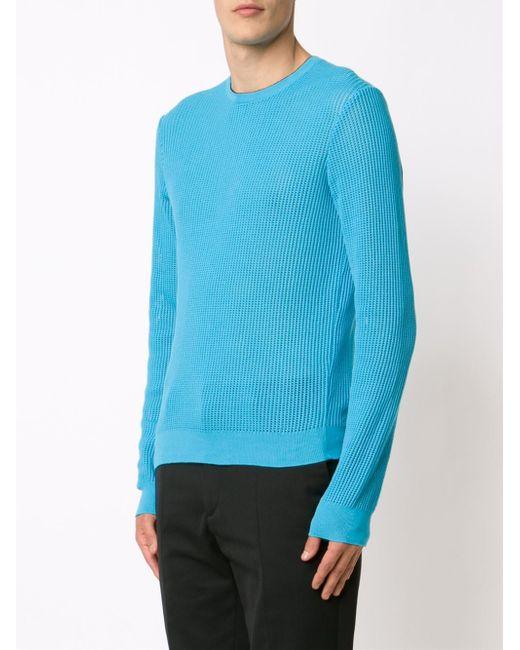 Calvin klein x the webster keat jumper in blue lyst for Calvin klein jardin collection