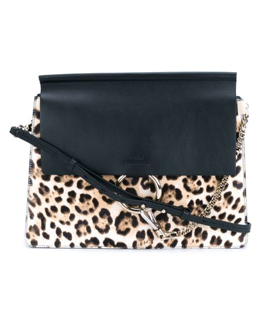 Chloe Brown Faye Shoulder Bag Women Calf Leathersuedemetal