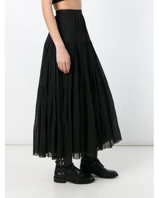 laurent high waist maxi skirt in black lyst