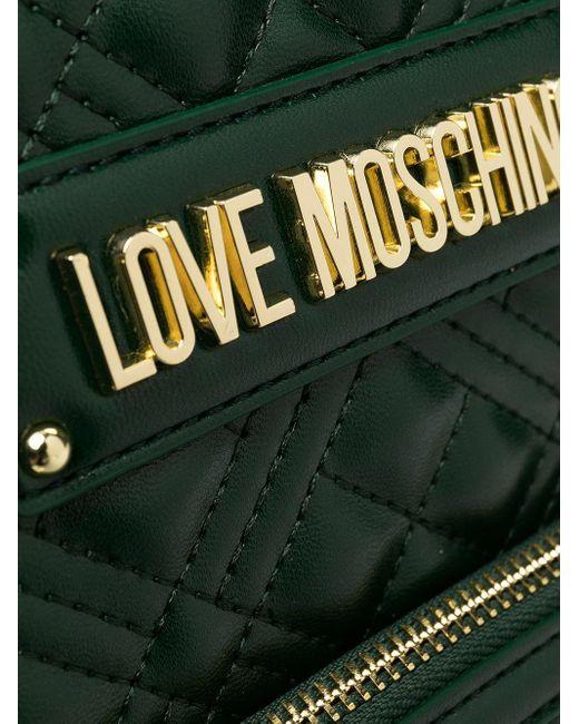 Love Moschino キルティング バックパック Green