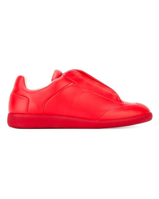 Maison Margiela   Red Future Soft Leather Sneakers for Men   Lyst