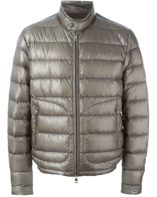 Moncler | Gray - 'acorus' Padded Jacket - Men - Polyamide/feather Down - 5 for Men | Lyst