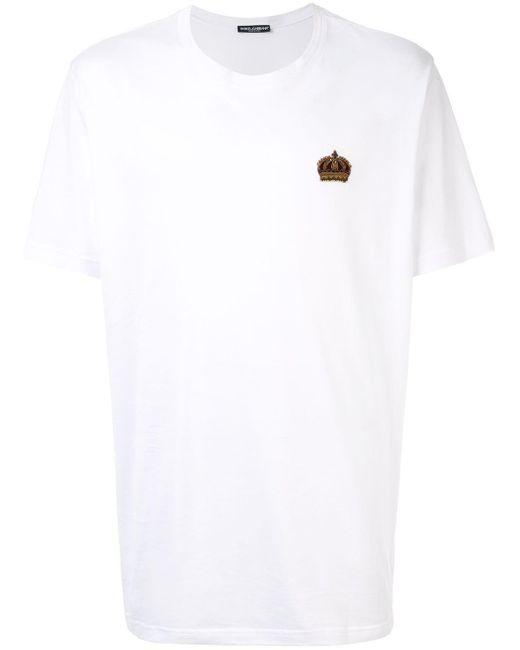 メンズ Dolce & Gabbana パッチ Tシャツ White
