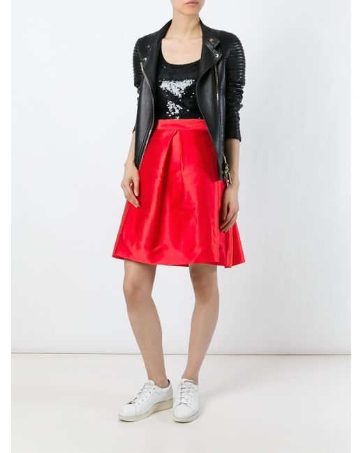 p a r o s h satin a line skirt in save 51 lyst