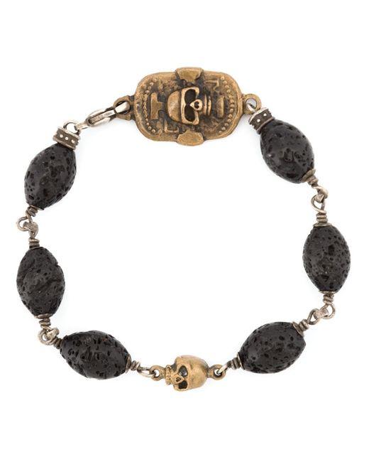 Roman Paul | Black Lava Beaded Bracelet for Men | Lyst