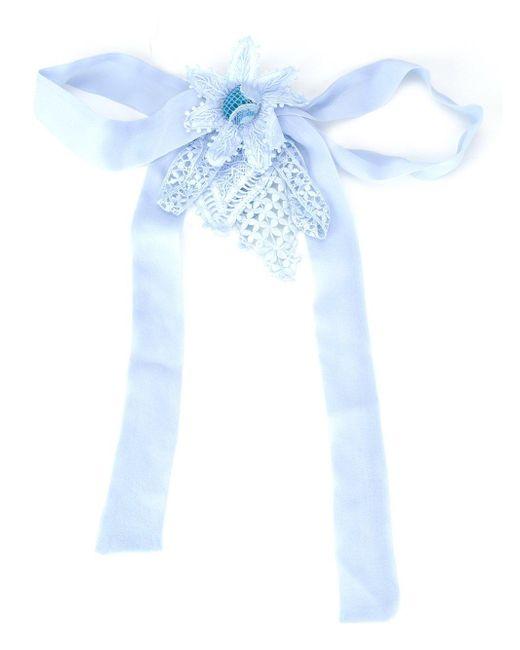 Martha Medeiros | Blue Embellished Brooch | Lyst